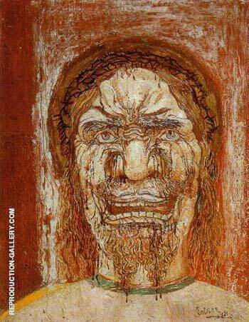 The Man of Sorrows 1892 By James Ensor - Oil Paintings & Art Reproductions - Reproduction Gallery