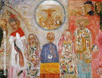The Vile Vivisectors 1925 Painting By James Ensor - Reproduction Gallery