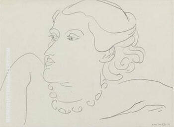 Lydia 1936 Painting By Henri Matisse - Reproduction Gallery