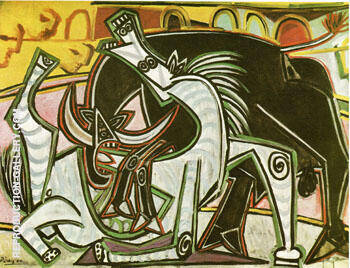 Reproduction of Bullfight Corrida 1934 by Pablo Picasso | Oil Painting Replica On CanvasReproduction Gallery