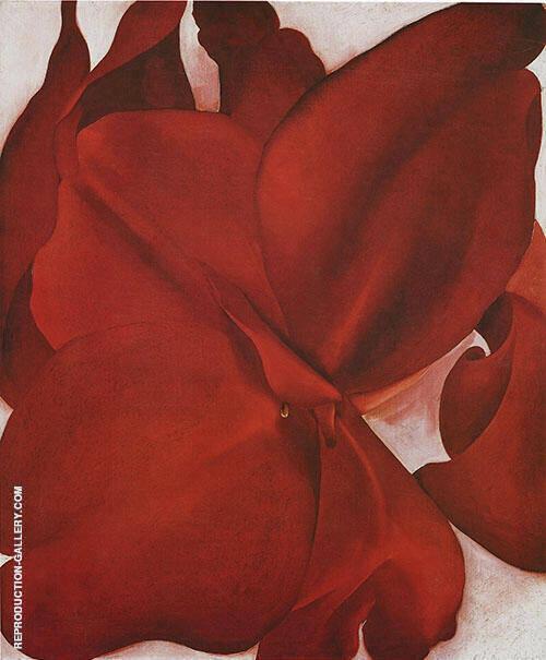 Red Cannas 1927 By Georgia O'Keeffe