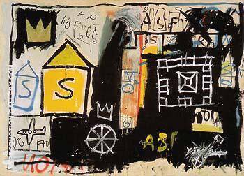 Untitled 1981 A By Jean-Michel-Basquiat Replica Paintings on Canvas - Reproduction Gallery