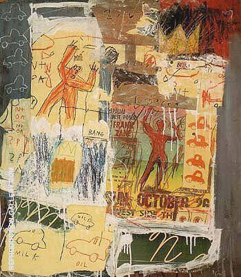 Untitled 1981 B By Jean-Michel-Basquiat Replica Paintings on Canvas - Reproduction Gallery