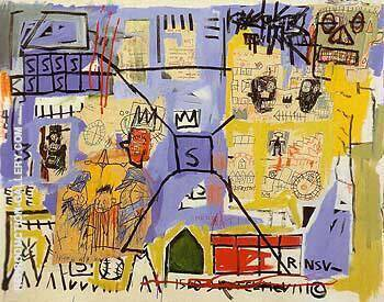 Untitled 1981 C By Jean-Michel-Basquiat Replica Paintings on Canvas - Reproduction Gallery