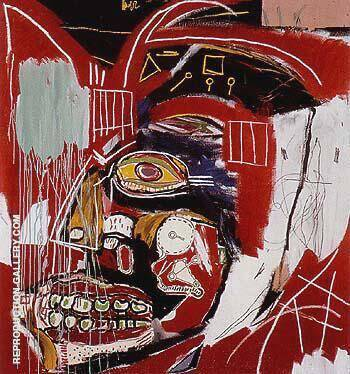 In This Case 1983 By Jean-Michel-Basquiat Replica Paintings on Canvas - Reproduction Gallery