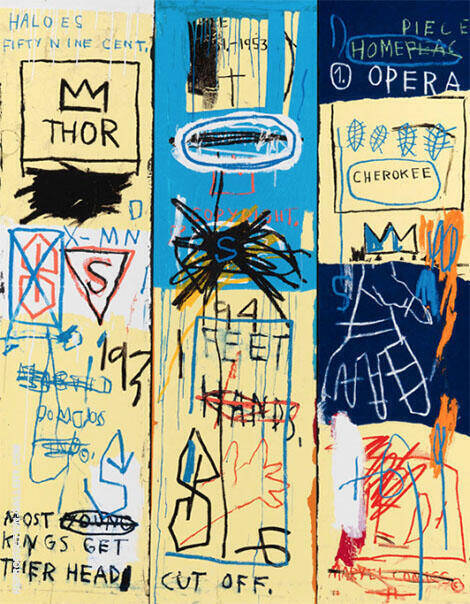 Charles the First 1982 By Jean-Michel-Basquiat