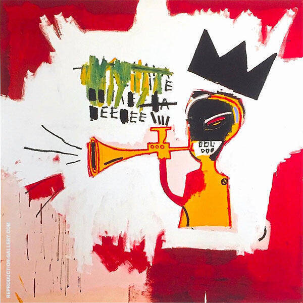Trumpet 1984 Painting By Jean-Michel-Basquiat - Reproduction Gallery