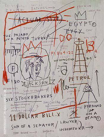Reproduction of Untitled Jackson 1982 by Jean-Michel-Basquiat | Oil Painting Replica On CanvasReproduction Gallery