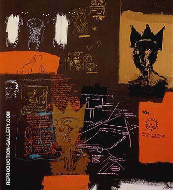 Untitled from the Blut Ribbon series 1984 By Jean-Michel-Basquiat Replica Paintings on Canvas - Reproduction Gallery