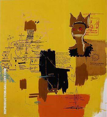 Untitled from the Blue Ribbon series 1984 Painting By Jean-Michel-Basquiat