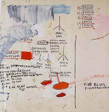 Eroica I 1988 Painting By Jean-Michel-Basquiat - Reproduction Gallery
