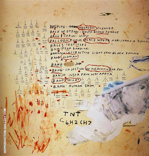 Eroica II 1988 Painting By Jean-Michel-Basquiat - Reproduction Gallery