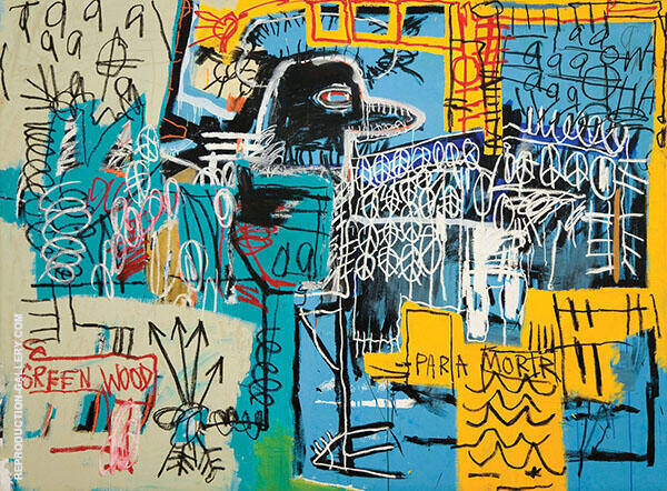 Bird on money 1981 By Jean-Michel-Basquiat