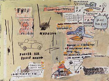 Napoleno Sterotype as Portrayed By Jean-Michel-Basquiat Replica Paintings on Canvas - Reproduction Gallery