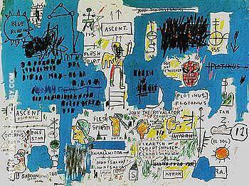 Ascent By Jean-Michel-Basquiat Replica Paintings on Canvas - Reproduction Gallery