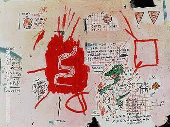 Reproduction of Snakeman by Jean-Michel-Basquiat | Oil Painting Replica On CanvasReproduction Gallery