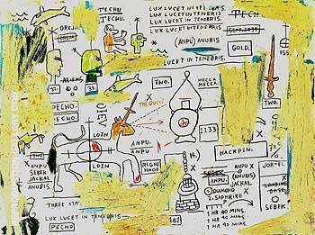 Techu Anpu By Jean-Michel-Basquiat