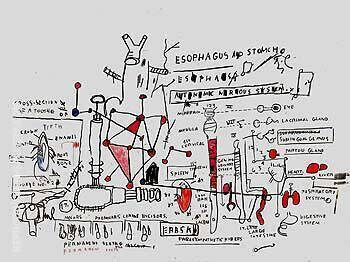 Peptic Ulcer Painting By Jean-Michel-Basquiat - Reproduction Gallery
