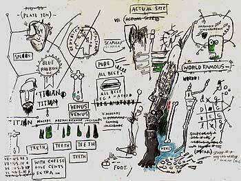 Titian Painting By Jean-Michel-Basquiat - Reproduction Gallery