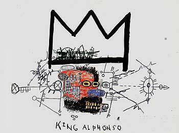 King Alphonso By Jean-Michel-Basquiat Replica Paintings on Canvas - Reproduction Gallery