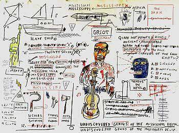 Undiscovered Genius Painting By Jean-Michel-Basquiat