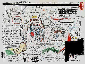 King Brand By Jean-Michel-Basquiat Replica Paintings on Canvas - Reproduction Gallery