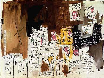 Skin Head Wig Painting By Jean-Michel-Basquiat - Reproduction Gallery