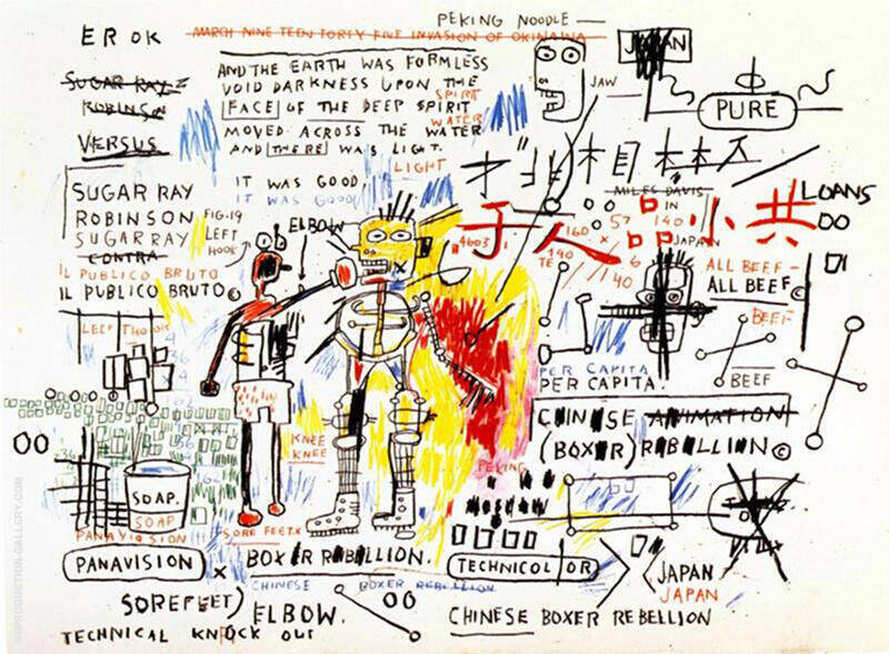 Boxer Rebellion Painting By Jean-Michel-Basquiat - Reproduction Gallery