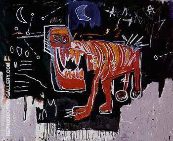 Untitled 1982 By Jean-Michel-Basquiat Replica Paintings on Canvas - Reproduction Gallery
