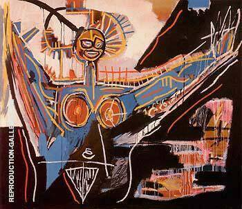 Mater 1982 Painting By Jean-Michel-Basquiat - Reproduction Gallery