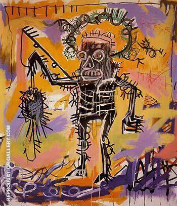 Untitled 1981 By Jean-Michel-Basquiat Replica Paintings on Canvas - Reproduction Gallery