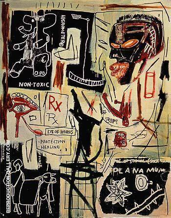 Melting Point of Ice 1984 By Jean-Michel-Basquiat Replica Paintings on Canvas - Reproduction Gallery