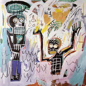Untitled Baptism 1982 By Jean-Michel-Basquiat Replica Paintings on Canvas - Reproduction Gallery