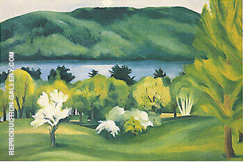 Lake George Early Moonrise, Spring 1930 By Georgia O'Keeffe - Oil Paintings & Art Reproductions - Reproduction Gallery