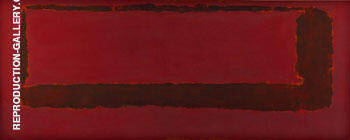 Red on Maroon 1959 Section 5 By Mark Rothko