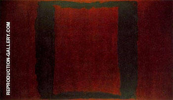 Seagram Mural Section 3 Black on Maroon Painting By Mark Rothko