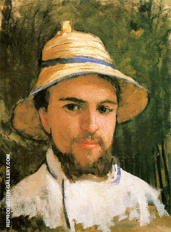 Autoportrait Fragment c1873 By Gustave Caillebotte - Oil Paintings & Art Reproductions - Reproduction Gallery