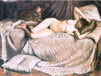 Naked Woman Lying on a Couch 1873 By Gustave Caillebotte