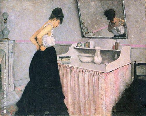 Woman at a Dressing Table c1873 Painting By Gustave Caillebotte