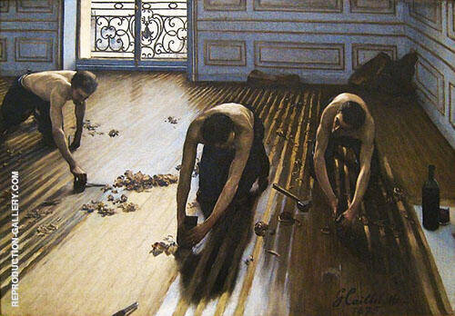 Floor Scrapers 1875 By Gustave Caillebotte Replica Paintings on Canvas - Reproduction Gallery