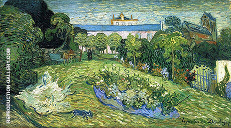 Daubigney's Garden 1 1890 By Vincent van Gogh Replica Paintings on Canvas - Reproduction Gallery