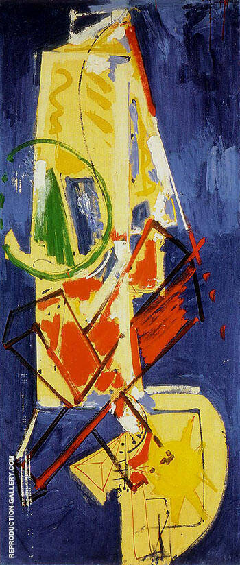 Chimbote Mural 1950 By Hans Hofmann - Oil Paintings & Art Reproductions - Reproduction Gallery
