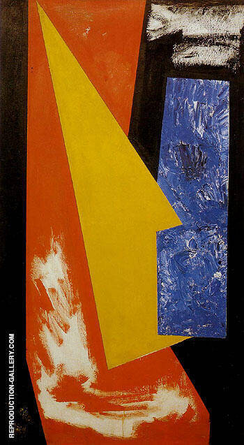 Reproduction of Sketch For Chimbote Mural Fragment 1950 by Hans Hofmann | Oil Painting Replica On CanvasReproduction Gallery