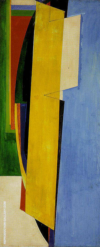 Chimbote Mural Fragment of Part I 1950 By Hans Hofmann Replica Paintings on Canvas - Reproduction Gallery