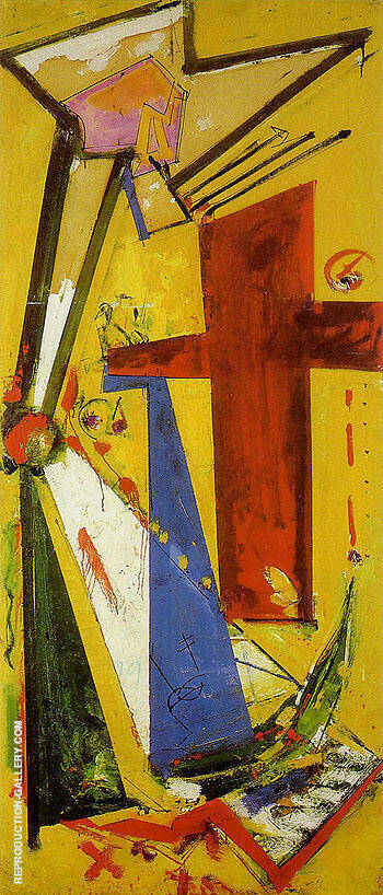 Sketch Chimbote Mosaic Cross 1950 Painting By Hans Hofmann