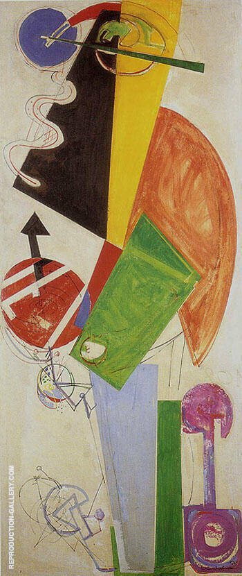 Chimbote Mural By Hans Hofmann Replica Paintings on Canvas - Reproduction Gallery
