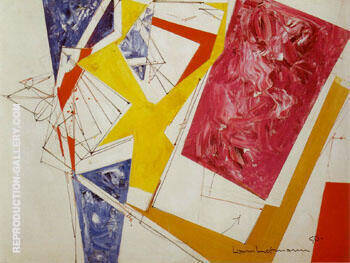 Push and Pull III 1950 By Hans Hofmann