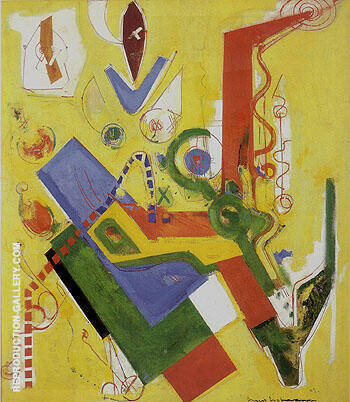Reproduction of Yellow Predominance 1949 by Hans Hofmann | Oil Painting Replica On CanvasReproduction Gallery