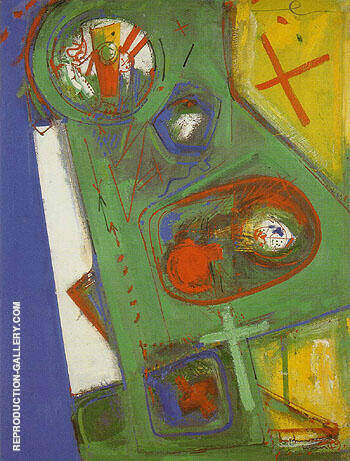 Table Version II 1949 By Hans Hofmann Replica Paintings on Canvas - Reproduction Gallery
