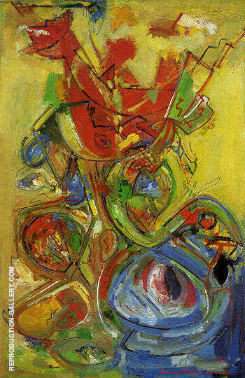 Reproduction of The Resurrection VII 1948 by Hans Hofmann | Oil Painting Replica On CanvasReproduction Gallery